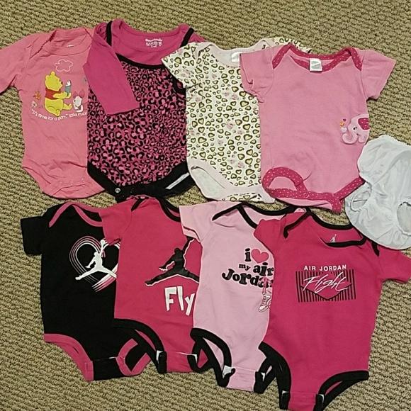 10c6a2462a4a83 Disney Other - Bundle of girls 0-3 mo. onesies. Air Jordan Disney
